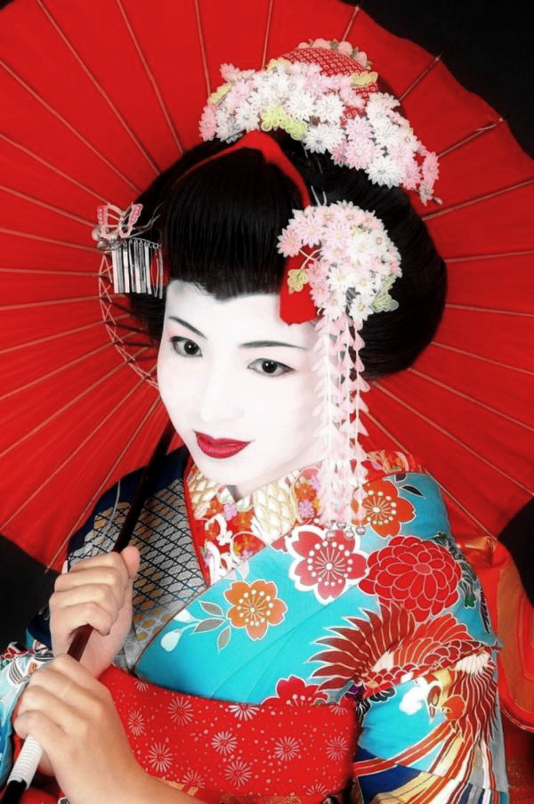 Японский макияж гейши фото
