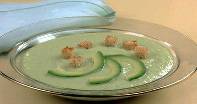 Суп-пюре с авокадо фото