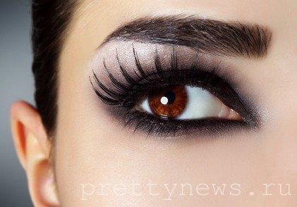 Какой макияж подходит карим глазам фото